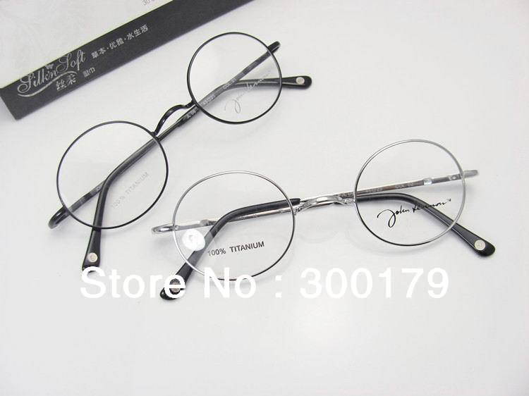 freeshipping retro vintage authentic john lennon harry potter round pure titanium unisex optical prescription eyeglasses