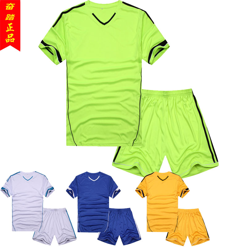 NEW 2015 Brand V-neck soccer jersey set football clothing jersey male soccer jerseys outdoor fun & sports Free shipping(China (Mainland))