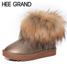 HEE GRAND Brand Women's Shoes Thick Fur Fashion Snow Boots 2016 New Winter Cotton Warm Shoes For Women Ankle Boots XWX3265(China (Mainland))