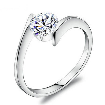 925 Sterling Silver Ring with Luxury Austrian Crystal,SWA Elements,Fashion Ring Wholesale OR06