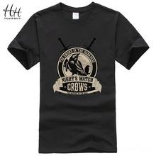 Game of Thrones Noites Assistir Corvos Camisetas 2016 Novos Homens Chegada do Verão Camisas Casual T Masculino Curto-luva Crossfit Tshirt TA0495