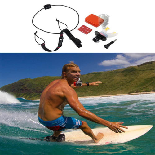 White Surfing Skating Shoot Dummy Bite Mouthpiece Mouth Mount + Floaty + Neck Lanyard for GoPro Hero 4/3+/3/2/1 Camera<br><br>Aliexpress