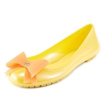 special offer 2013 lady jelly shoes with beautiful bowtie for spring summer and autumn size 35-39 free Shipping