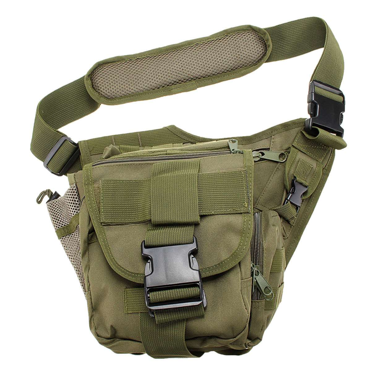 Military Tactical Crossbody Bag Camping Inner Waterproof Male Shoulder Bags Oxford Fabric Molle Camouflage Men Chest Pack(China (Mainland))