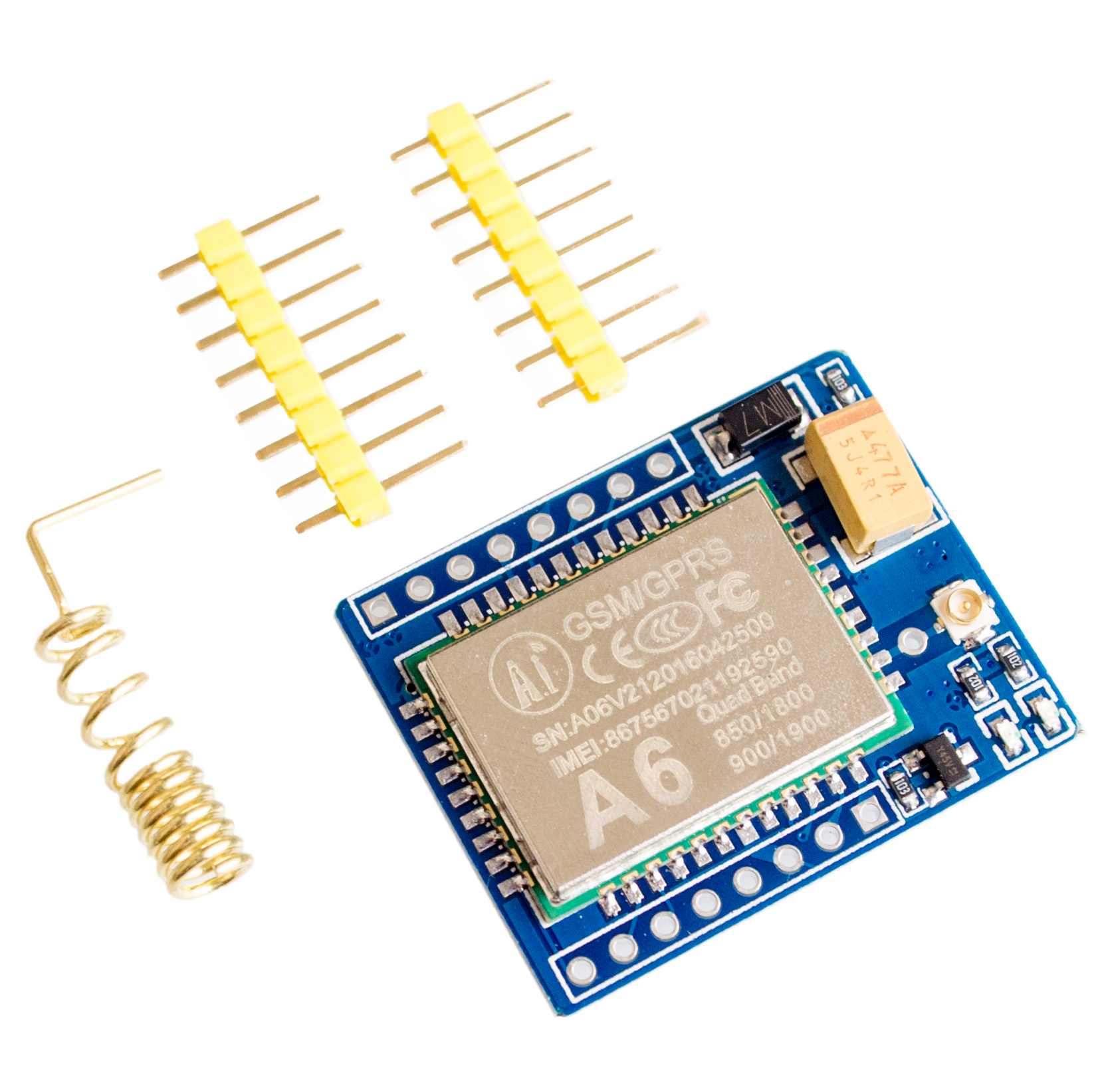 mini A6 GPRS GSM Module Kit Wireless Extension Module Board Antenna Tested Worldwide Store for SIM800L(China (Mainland))