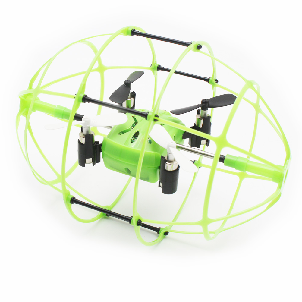 SKYTECH M69 2.4GHz 4CH 6-Axis Gyro 360-degree Eversion Rugby Shaped RC Quadcopter (Green)<br><br>Aliexpress