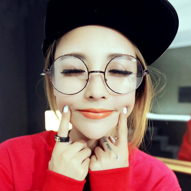 fashion reading eyeglasses optical glasses frames women men round glasses frame ultra light frame clear glasses
