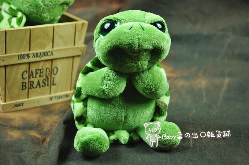 Super cute 1pc 22cm NICI mini cartoon big eyes green tortoise plush animal doll hold pillow stuffed toy children baby gift(China (Mainland))