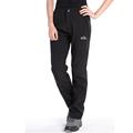 Women fleece pants windproof waterproof winter soft shell trousers female thickening thermal