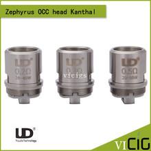 Original UD Zephyrus Coil head Youde Zephyrus OCC Head replacement Organic Cotton Coil head for Zephyrus sub ohm tank 4pcs/lot