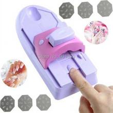 DIY Nail Art Tool machine stamping printing Colors Drawing polish Nail Printer Nail Art with 6 Metal Pattern Plates Design Kit(China (Mainland))