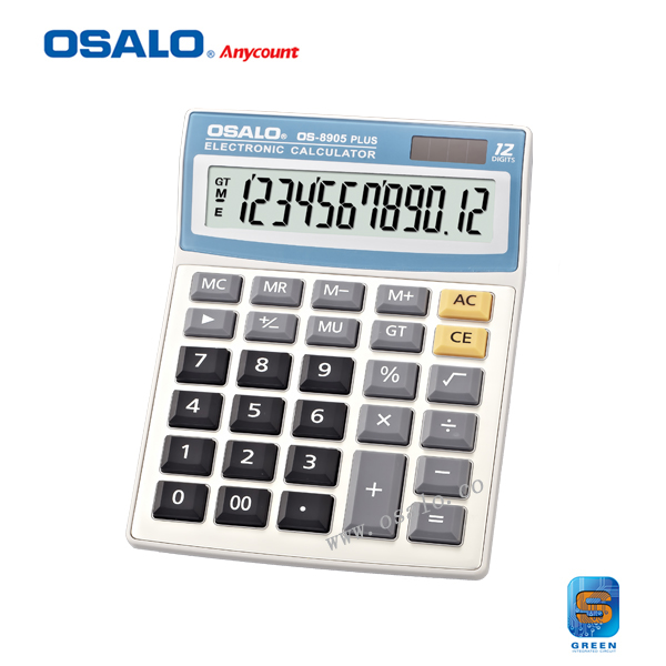 OS-8905PLUS 12 Digits Big Keys Root Square Desktop Calculator Dual Power Calcolatrice Solar Office Student Hesap Makinesi(China (Mainland))