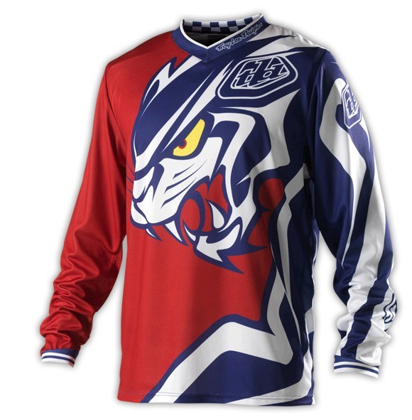 2016 Troy Lee Designs TLD Red GP Predator MX Mens Jersey Moto MX DH MTB Jersey Bicycle Motorcycle long T-shirt(China (Mainland))