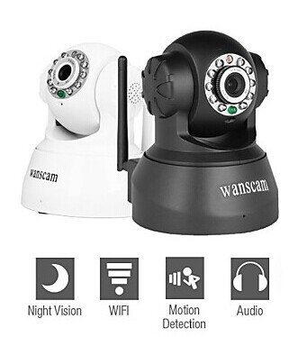 Гаджет  security camera ip camera Wanscam Wireless IP Surveillance Camera with Angle Control Motion Detection, Night Vision, Free P2P None Безопасность и защита