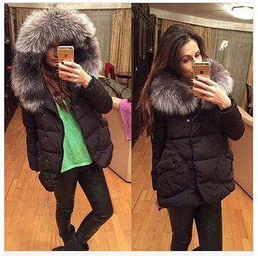 Зима 2015 женщин куртки хлопчатобумажные полный рукав кнопку покрыта pocketswomen шляпа с перьями ультра легкий пуховик A023