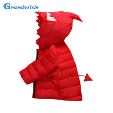 Grandwish New Winter Girls and Boys Monster Eyes Print Down Jackets Kids Hooded Warm Coat Outerwear Kids Clothing 24M-8T, SC313