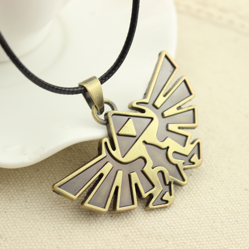 New Vintage Jewelry Anime Figures Pendane Necklace The Legend of Zelda Badge Logo Necklace Free Shipping