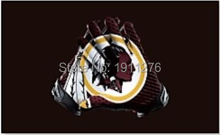 Washington Redskins American football team's top NFL stars and stripes flag 3X5FT gloves of high quality polyester banner 100D(China (Mainland))