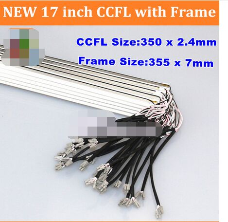 10PCS NEW 17'' inch dual lamps CCFL with frame,LCD monitor lamp backlight CCFL with cover 350MM,FRAME:355mm x7mm(China (Mainland))