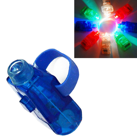 NEW 8 Color LED Laser Finger Ring Lights Beam Torch Party HB88(China (Mainland))