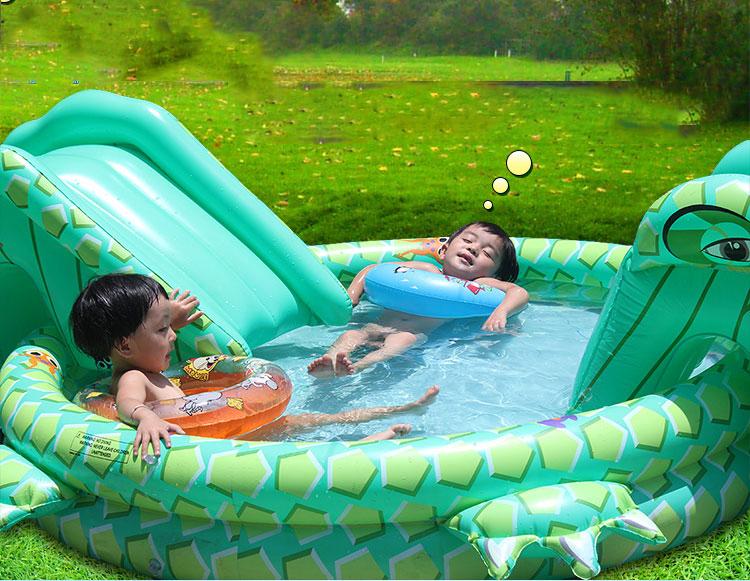 Online kopen wholesale baby zwembad met glijbaan uit china for Zwembad plastic