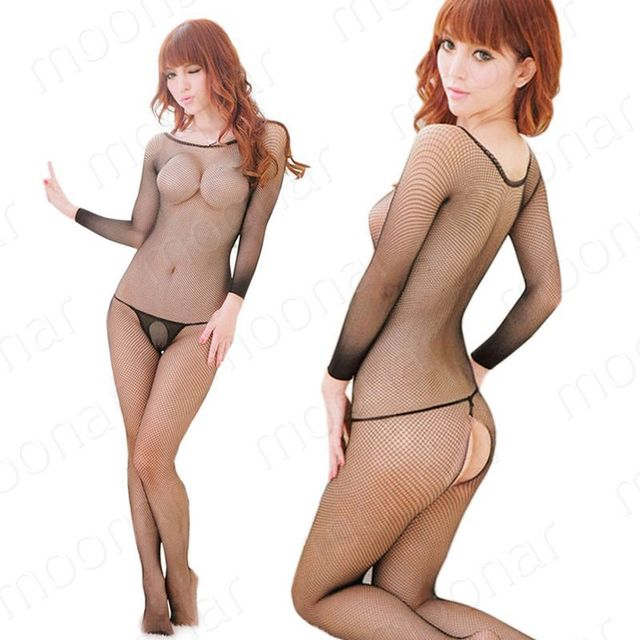 J Sexy Black Mesh Fishnet Open crotch Lingerie Body stockings tights Sexy Stockings sexy Bodystockings sexy Pantyhose NY113