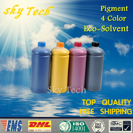 1L*4 color Eco Solvent Ink for Dx5 Dx7 , suit for Mimaki series printer , Pigment Eco Solvent Ink(China (Mainland))