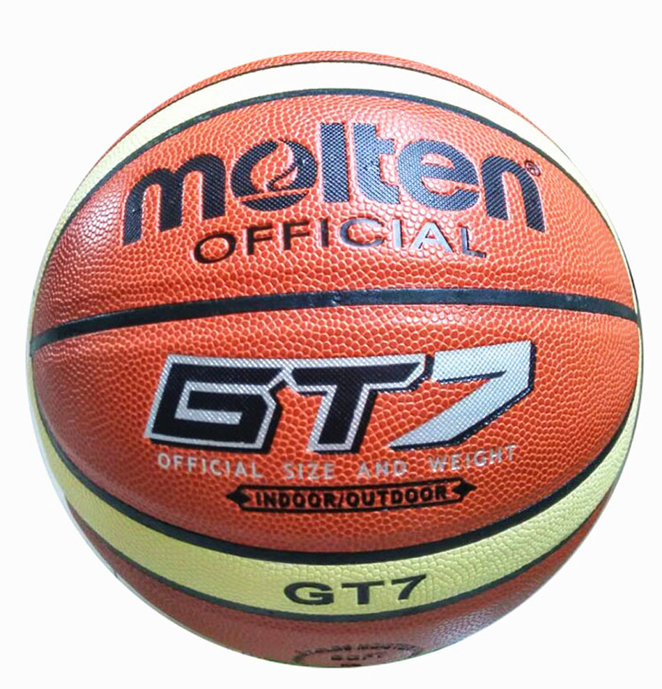 Official Molten Basketball Ball GT7 PVC Men Official Size 7 Indoor Outdoor Training Ballon Basketball Free Pump+Net bag+ Pin(China (Mainland))