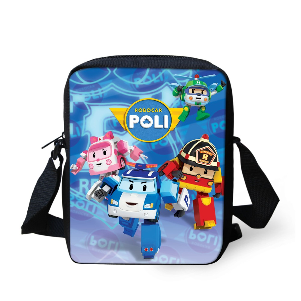 Korea Cartoon Robocar Poli Transformation Robot Car Bag Children School Bags Mini Shoulder SchoolBag For Boys Girls Kid Mochila(China (Mainland))