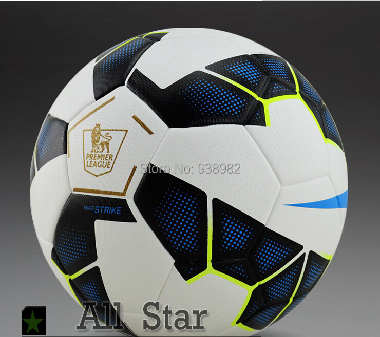 Hot Salel!!2015 The Premier League Soccer Ball Official Size and Weight Football Ball PU Grain Antislip Soccer Wholesale(China (Mainland))