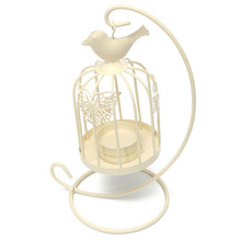 High Quality Hanging Design Metal Vintage Butterfly Pattern Lantern Candlestick Wedding Home Decor Bird Cage Candle Holder(China (Mainland))