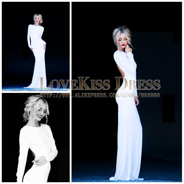 Images of Open Back Long Sleeve Dress - Reikian