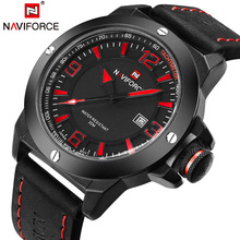 Buy Nes Luxury Brand NAVIFORCE Men Sports Watches Military Quartz watch Date Clock Waterproof leather Wrist watch Relogio Masculino for $17.99 in AliExpress store