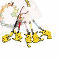 5pcs set Pokemon Pikachu Cute Version Cellphone Rope Keychain Pendant Action Figure Japan Anime Collections Kids