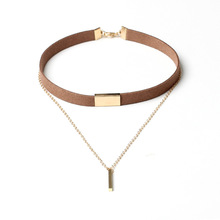 Buy 2016 New Black Velvet Choker Necklace Gold Chain Bar Chokers Chocker Necklace Women Collares Mujer collier ras du cou for $1.39 in AliExpress store