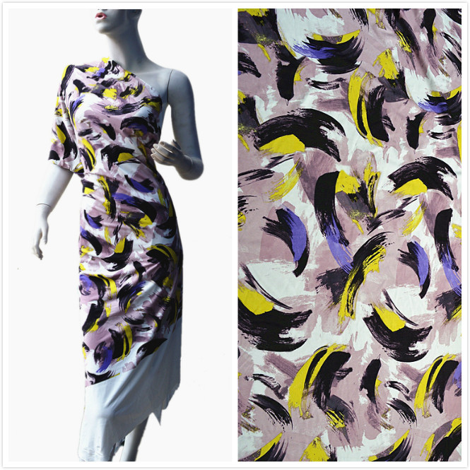 Free shipping knitted jersey fabric printing, digital printing fabric sexy graphics, abstract graffiti camouflage printed fabric(China (Mainland))