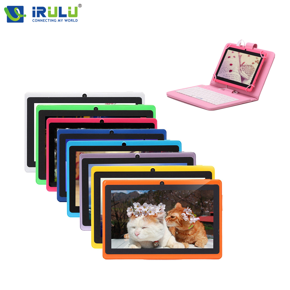 "Original iRULU eXpro X1 7"" Tablet PC Android 4.4 8GB ROM Quad Core Dual Camera 1024*600 Wifi free Pink EN Keyboard Case Cheaper(China (Mainland))"