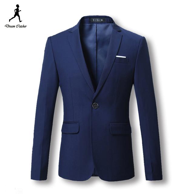 2016 мужчин пиджаках пиджаки костюмы мужская свободного покроя мода тонкой пригонки ...