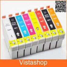 1Set  Ink cartridge  For Epson T0870 T0871 T0872 T0873 T0874 T0877 T0878 T0879 For Epson Stylus Photo R1900 Printer
