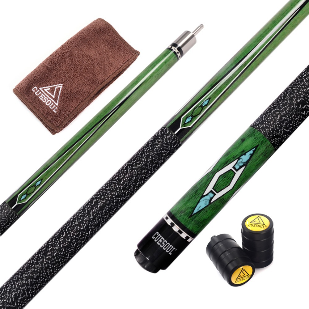 Cuesoul 57 Inch Canadian Maple Wood 1 2 Jointed Pool Cue