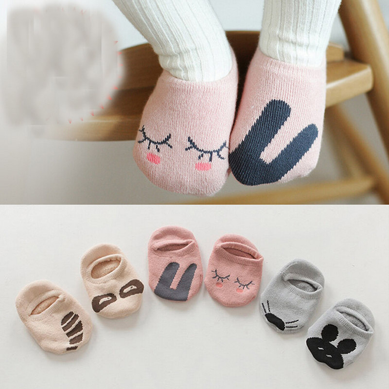 Unisex Baby socks floor sock baby boys socks girls kids Children cutu animal rabbit rat bear pattern socks cotton(China (Mainland))