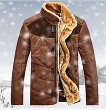 Free delivery man duck feather jacket fur coats in the winter of men s fashion warm