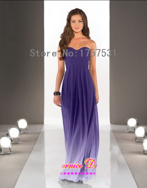 2015 hot sale purple strapless chiffon summer beach plus for Cheap wedding dress for sale