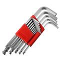 13pcs set High Toughness Matte Chrome Ball End Hex Allen Key Wrench Spanner Set 0 05