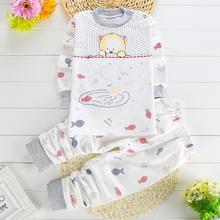 Children Kids Cartoon Animal Print Long Sleeve Cotton Shirt + Pants 2 Piece Set Suits Boys Girls Sleep Set Pijamas infantil T238(China (Mainland))