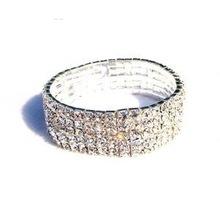 free shipping silver rhinestone stretch bracelet fashion jewelry(China (Mainland))