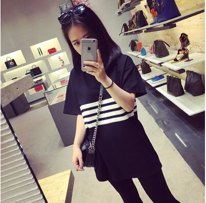 girls korean style clothes 2015 summer preppy style print t-shirt female short-sleeve clothes(China (Mainland))