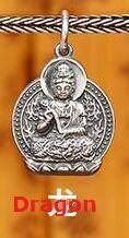 手作り 999 シルバー仏像お守りブレスレット編組純銀幸運ブレスレット愛好家のブレスレット干支ジュエリー(China)