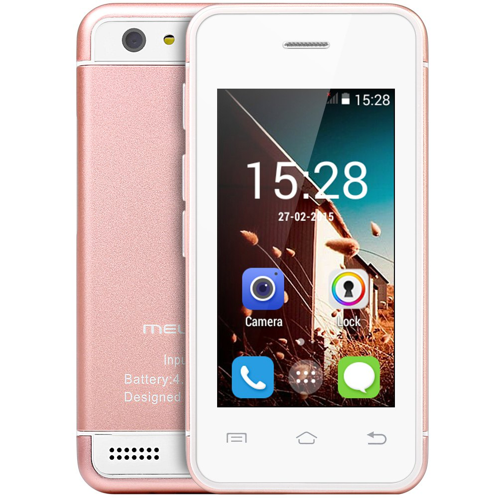 Melrose S9 Smallest Android Phone 3G WIFI Ultra Slim Mini I6 Mobile Phone MTK6572 Dual Core Card Phone 4GB 16GB ROM Free Case(China (Mainland))