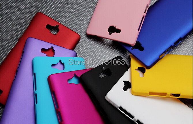 Matte Rubberized Anti-skid Style Various Color Case for Huawei Honor 3C Ultra Thin Hard Back Protective Cover(China (Mainland))